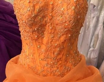 Tangerine gown