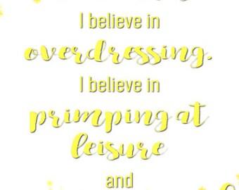 Audrey Hepburn Quote Print / I Believe in Manicures / Digital Download