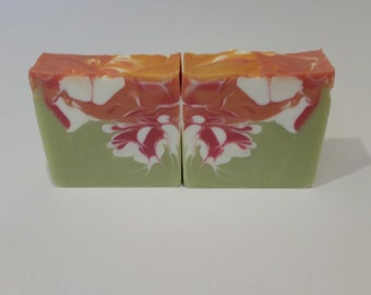Rainbow Sherbert Handmade Vegan Cold Process Soap
