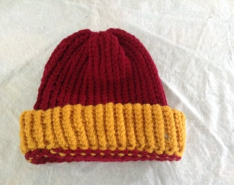 Maroon and gold Toboggan Hat
