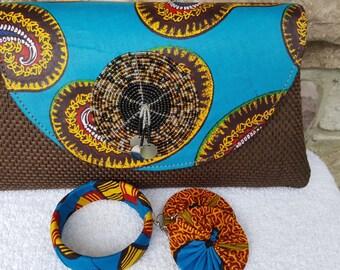 Medium Hand Made Clutch African Print