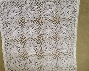 Soft lavender handCrochet throw/baby/lap blanket