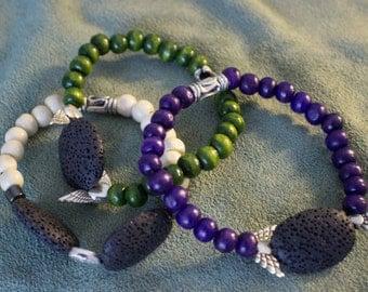 Obsidian Bracelet Set