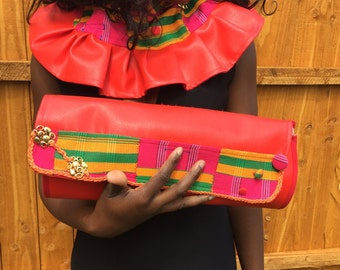Royal kente purse and neck piece set