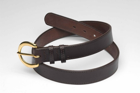 handmade mens leather belt in brown or by manosleatherproducts