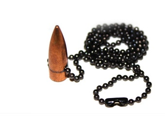 Military Bullet Necklace - .30 Bullet Head