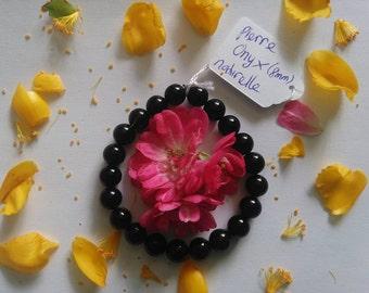 Bracelet gem stone: ONYX (8mm)