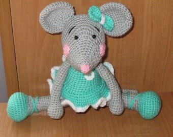 Grey Mouse Alice, Handmade, Amigurumi, Toys