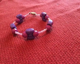 Purple bow bracelet