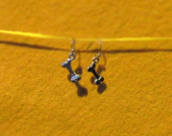 Handmade, vintage style earrings / 'Dem Bones..