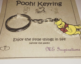 Shy Winnie the pooh keyring