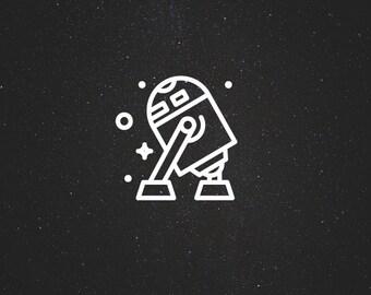 R2-D2 Decal / Star Wars Decals / Laptop Decals / Car Decals / Syfy Decals / Computer Decals / MacBook Decals / Window Decals