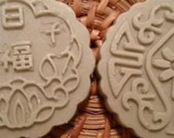 bay rum scented mooncake soaps set of 2