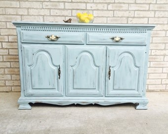SOLD!  Example   Blue- Gray Chalk-painted Buffet