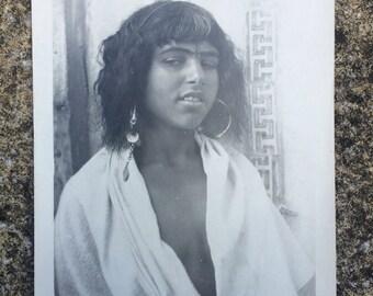 Vintage Lehnert & Landrock print of Bedouin girl Cairo photo