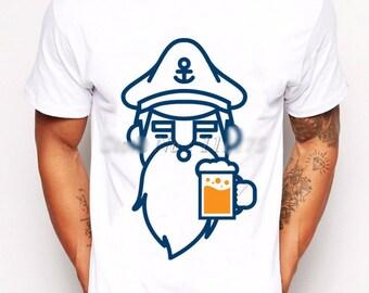 Cool Bottoms Up Blue Salior Men's T-shirt