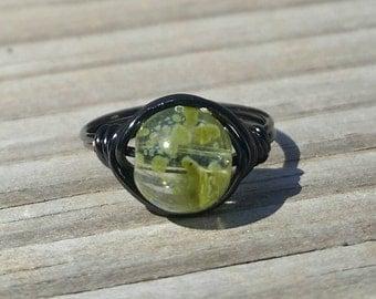 Gator Green Wire Ring