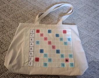 Scrabble canvas tote / shoulder bag