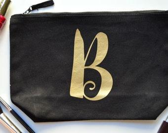 Personalised Make Up Bag | Personalized Make Up Bag | Personalised Gift For Her | Personalised Costmetic Bag | Makeup Bag with Initial
