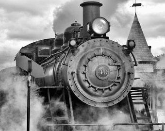 Train photography, Train Black & White, Wall Art, Home Wall Decor, Locomotive