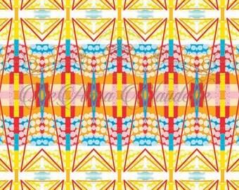 Bold, Vibrant, Printable, Geometric Abstract, Digital Artwork
