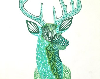 """Zentangle Deer - """"Roots (Cervidae)"""""""