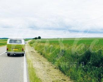 Green Volkswagen van