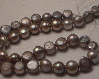 Taupe Potato Pearl strand, 15inches