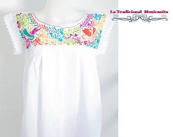 Mexican Blouse: White. Ready to send.