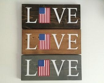 Love American Flag Board