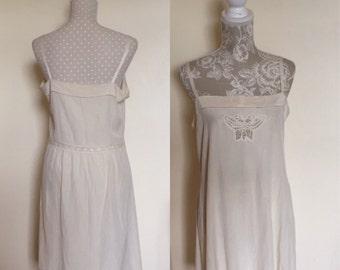 1920'S Silk Nightdress (Handmade)