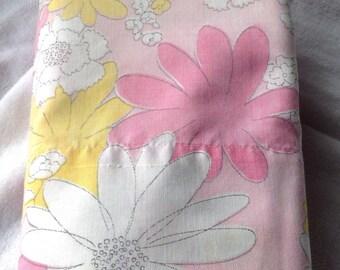 Vintage 1960s floral pillowcase