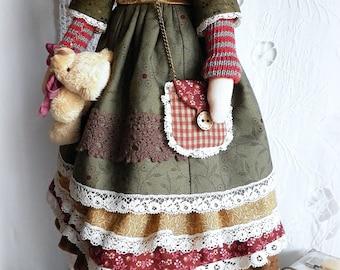 doll Tilda, Hannah, textile doll, Tilda, hand made, interior doll, boho style, vintage, кукла тильда, тильда, текстильная кукла