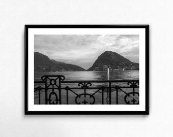 View on the Lake / Lugano / Switzerland / Mountains