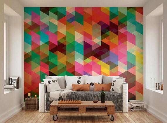 Rabbit Line Painting Bright Colours