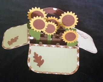 Sunflower Popup Card