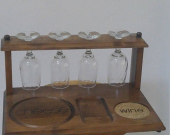 Wine and Cheese Caddy - Rack & Server