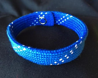 Hockey Lace Bracelet - Royal Blue