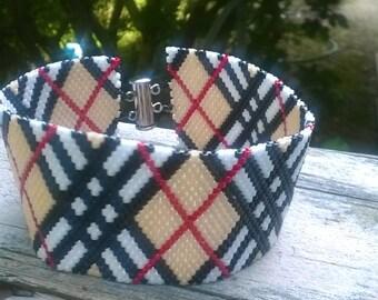 Burberry peyote cuff Bracelet