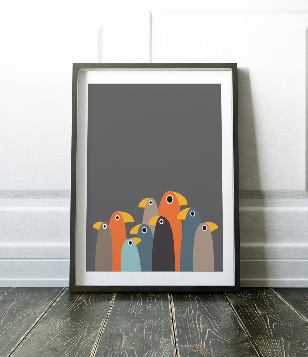Minimalist wall art prints nordic bird art wall decor for Minimal artiste