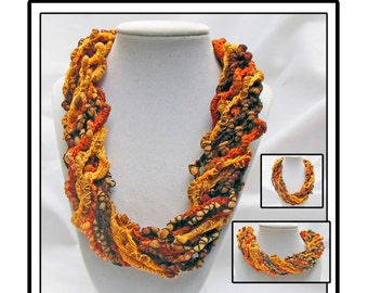 Fall Crochet Crochet Curly Necklace/Scarf