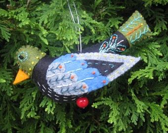 Felt Colly Bird from Twelve Days of Christmas