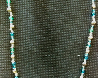 Necklace with small beads