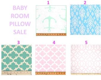 SALE  Pillow cases Pillows Decorative Pillows  BABY PINK mint blue decor pillow 22x22 20x20, 18x18, 16X16, 14x16, 14x14, 12x16, 12x12, 10x10