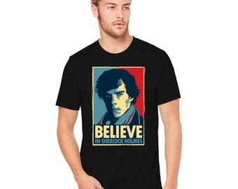 Believe in Sherlock Holmes Men's T-shirt