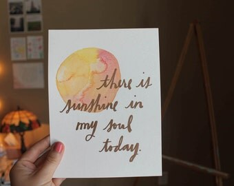 Sunshine Watercolor Art