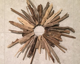 Large Driftwood Storm Wreath