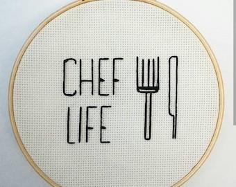 "Chef Life (7"" hoop)"