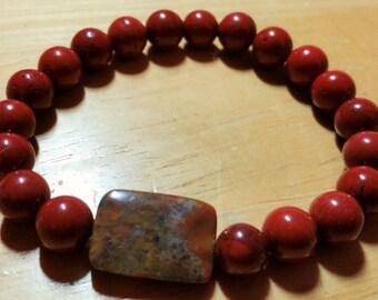 Red Jasper Mala Bracelet