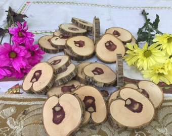 Wedding Decor Cedar Wood Slices DIY ~36 Count~Live Edge ~Wood Rounds ~ Natural Edge~ DIY Crafts ~Natural Edge Tree Slices ~Wood Discs